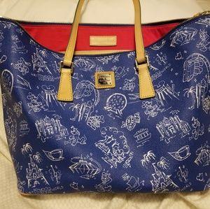 Dooney & Bourke Blue Disneyana shopper tote